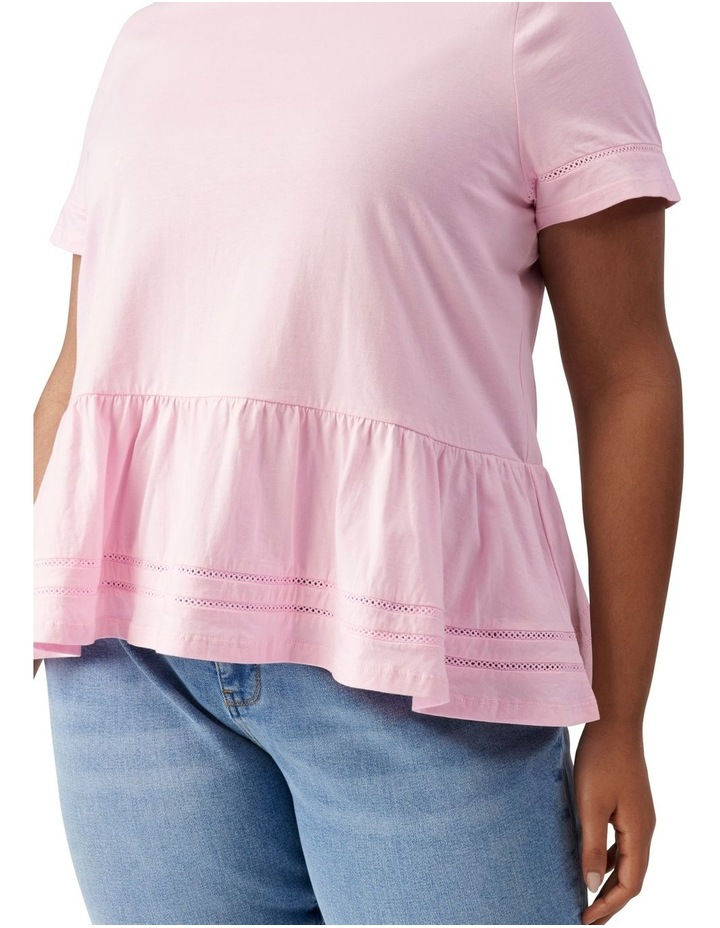 Toni Curve Lace Trim Smock Tee Candy Pink image 2