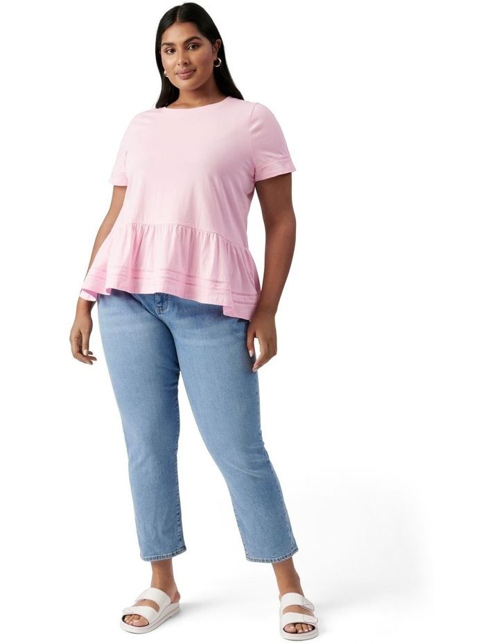 Toni Curve Lace Trim Smock Tee Candy Pink image 5