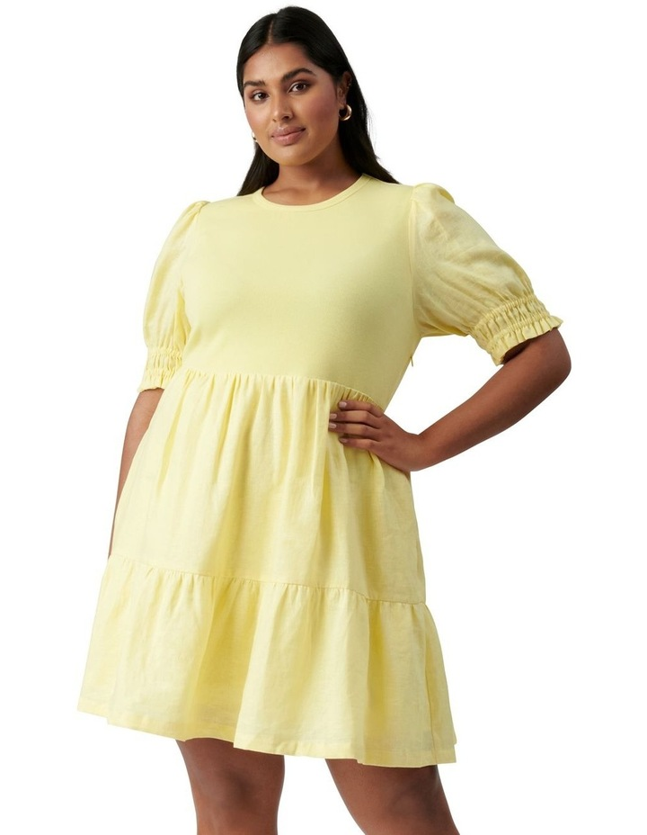 Shannon Curve Smock Dress Yellow image 1