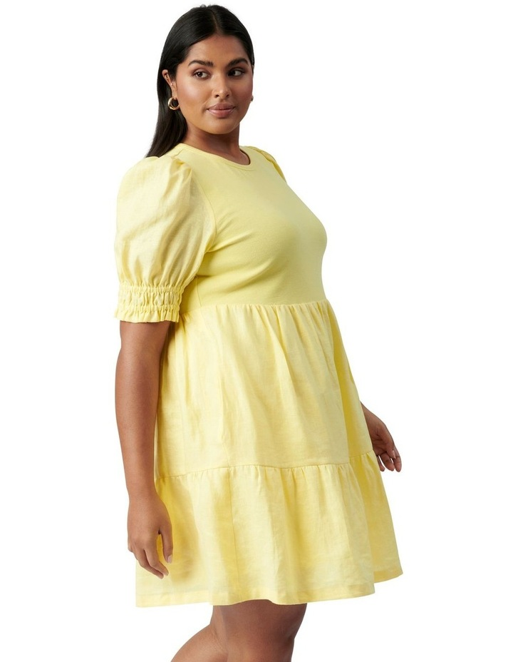 Shannon Curve Smock Dress Yellow image 3