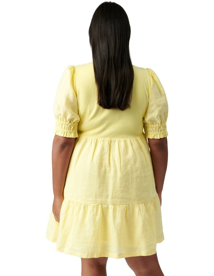 Shannon Curve Smock Dress Yellow image 4