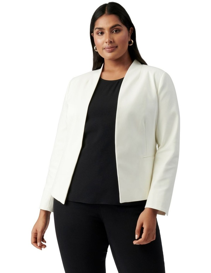 Ally Curve Fitted Blazer Porcelain image 1