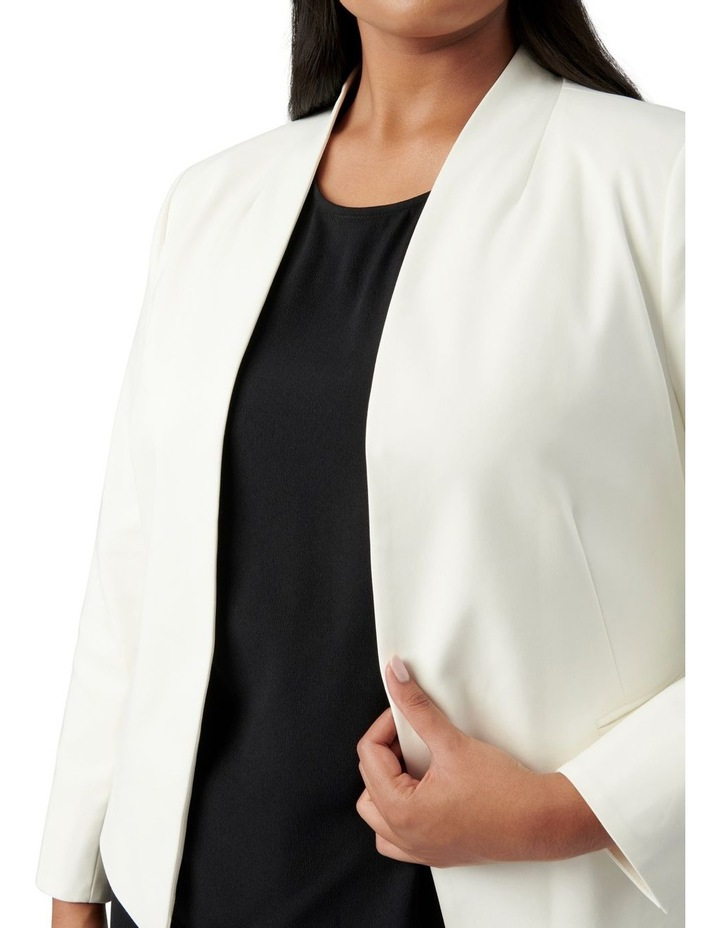 Ally Curve Fitted Blazer Porcelain image 2