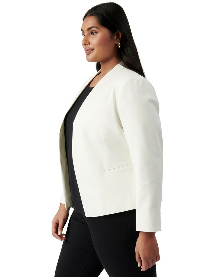 Ally Curve Fitted Blazer Porcelain image 3