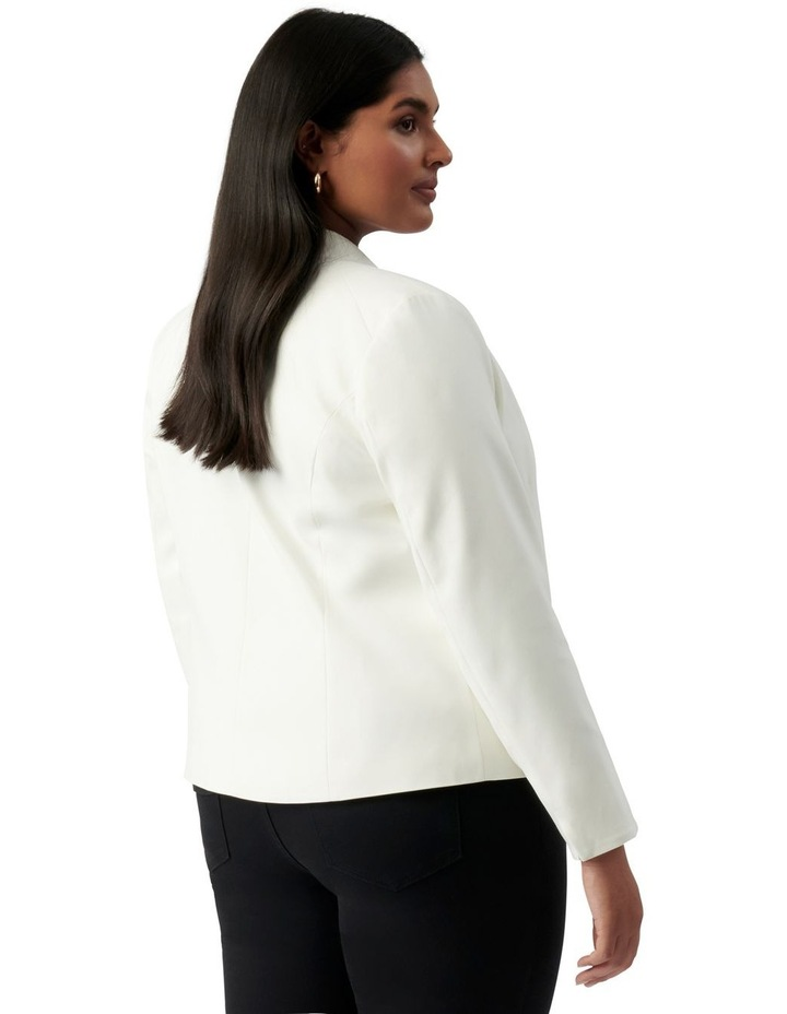 Ally Curve Fitted Blazer Porcelain image 4