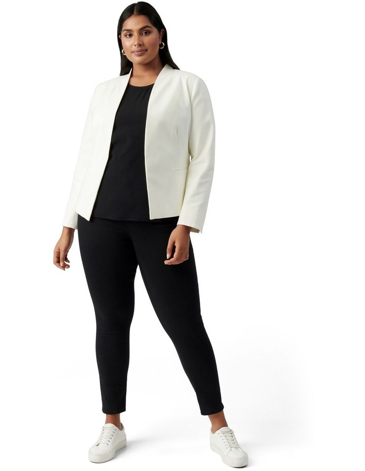 Ally Curve Fitted Blazer Porcelain image 5