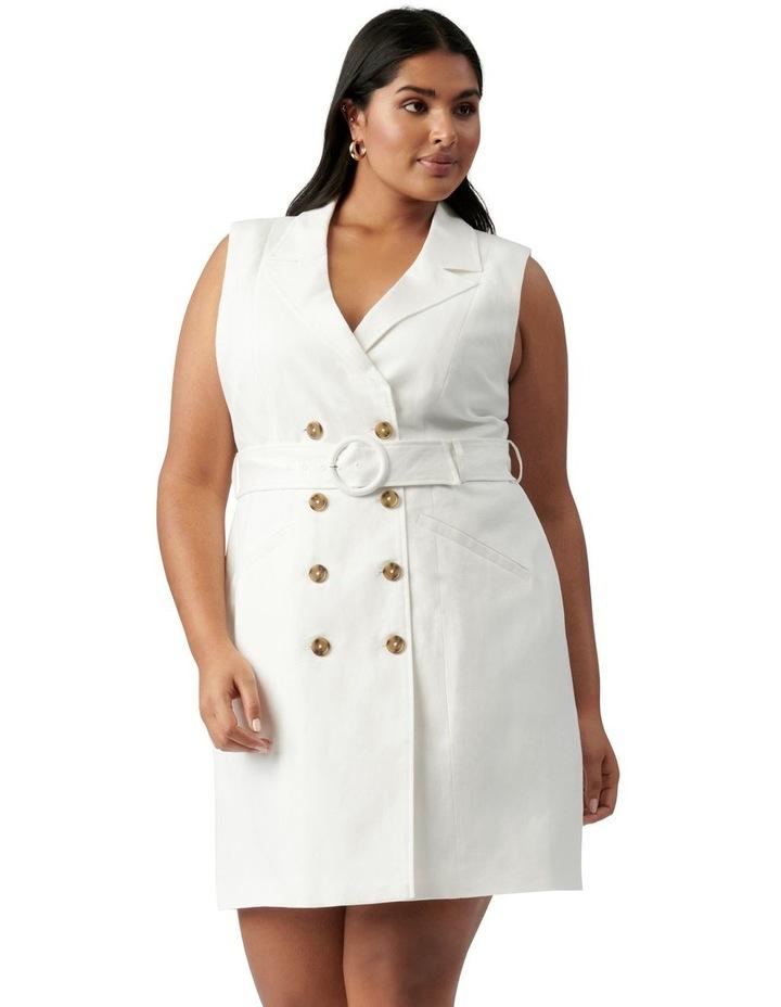 Hilary Curve Mini Blazer Dress Porcelain image 1