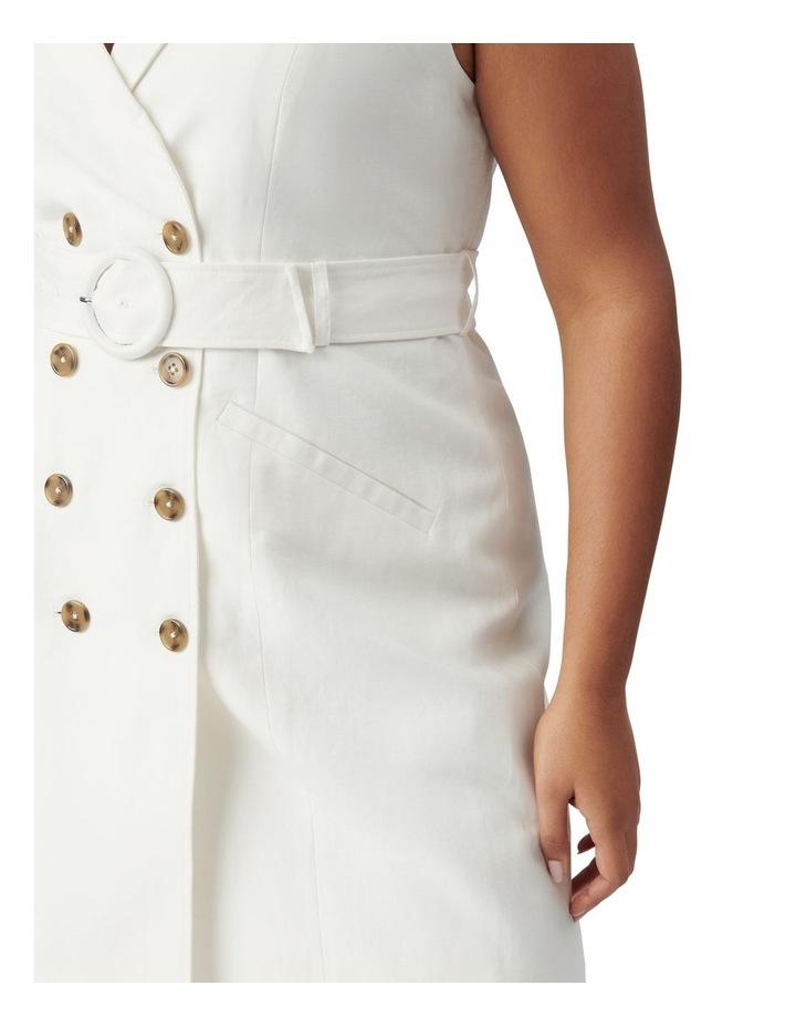 Hilary Curve Mini Blazer Dress Porcelain image 2