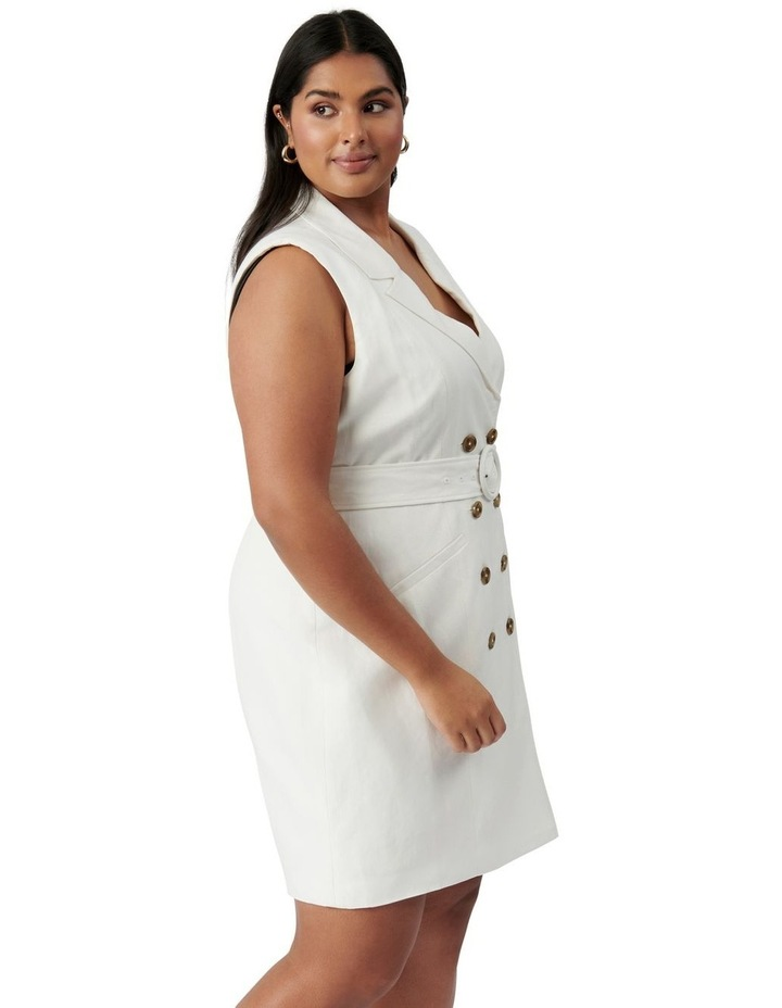 Hilary Curve Mini Blazer Dress Porcelain image 3