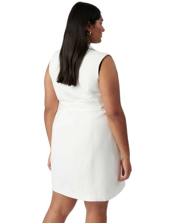 Hilary Curve Mini Blazer Dress Porcelain image 4