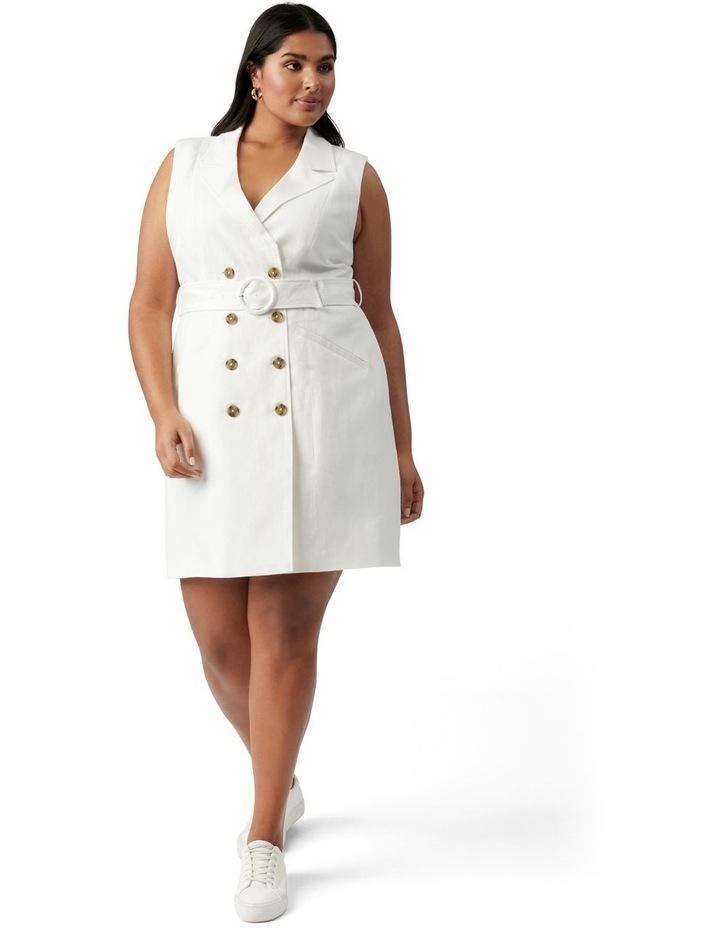 Hilary Curve Mini Blazer Dress Porcelain image 5