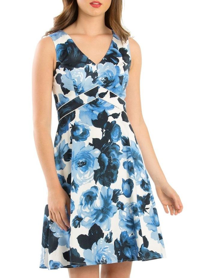 Miley Blue Rose Dress image 1