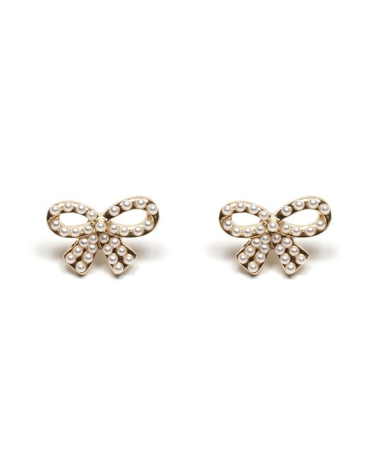 Pearl Bow Earrings image 1
