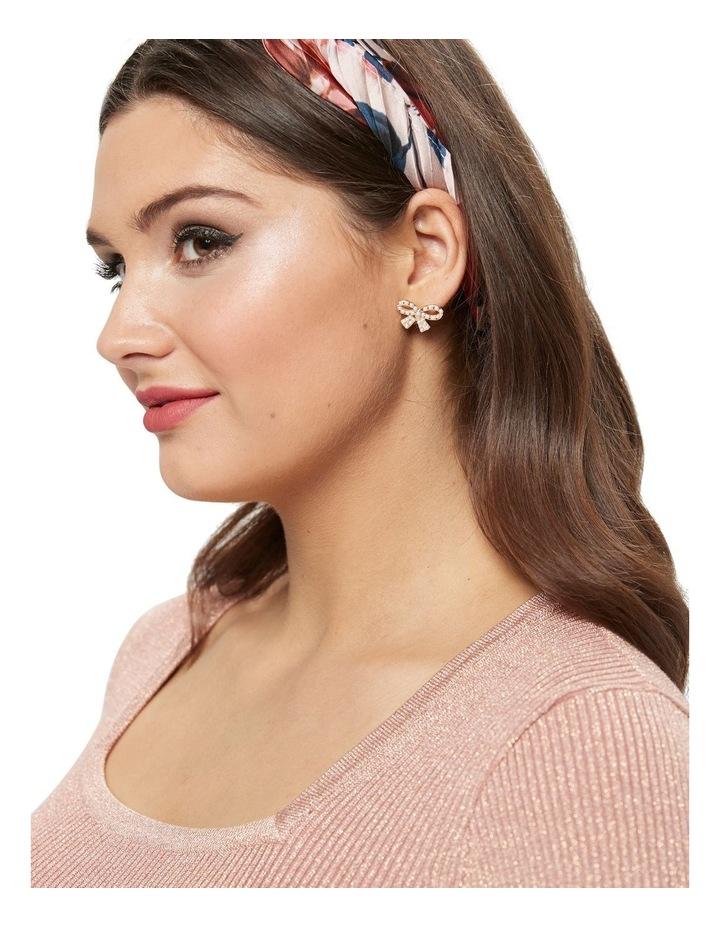 Pearl Bow Earrings image 2