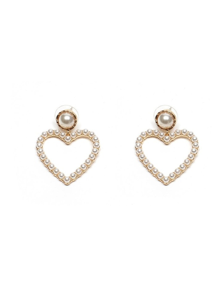 Pearl Heart Earrings image 1