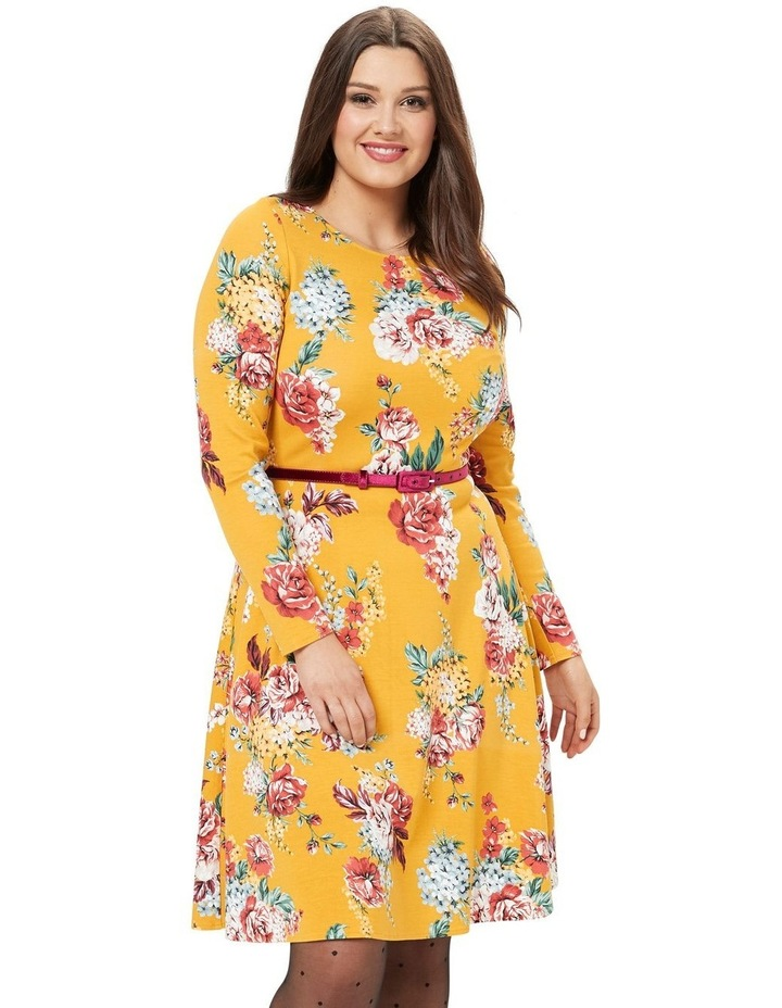 Caity Floral Ponte Dress image 1