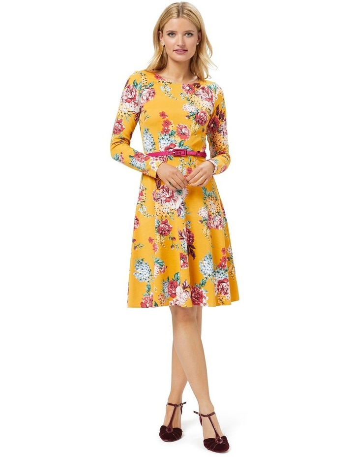 Caity Floral Ponte Dress image 2