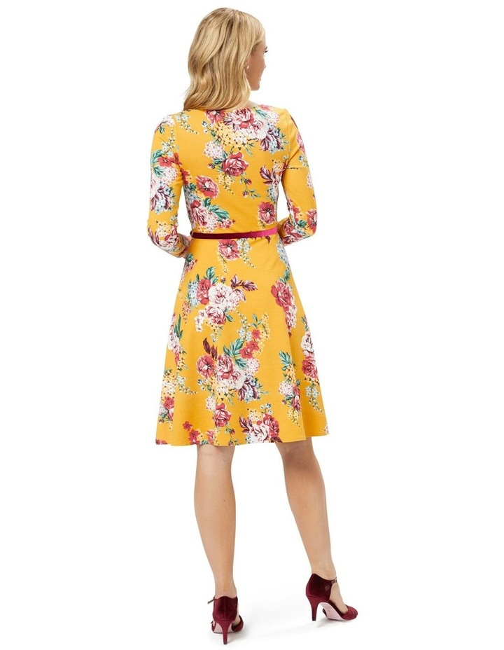 Caity Floral Ponte Dress image 4
