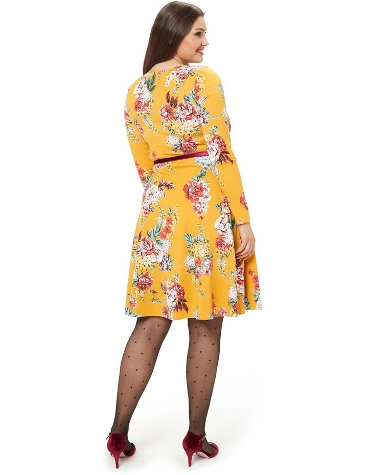 Caity Floral Ponte Dress image 5