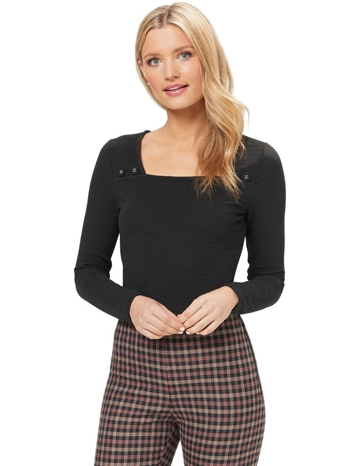 Cute As A Button Long Sleeve Top image 1