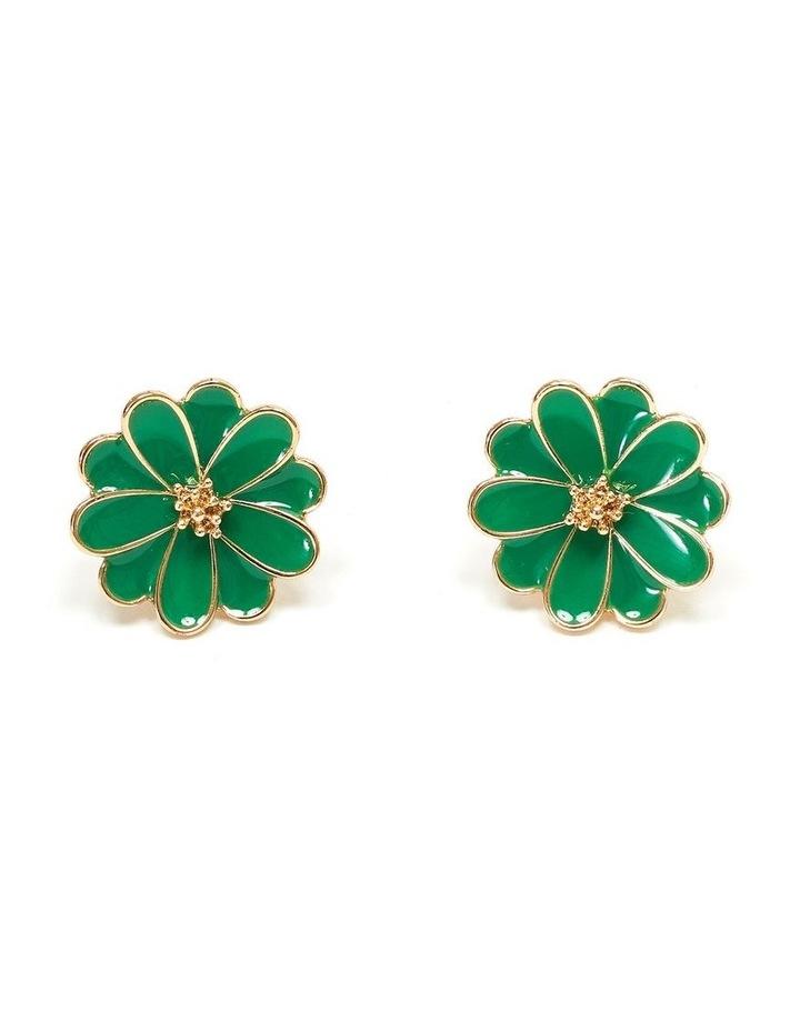 Enamel Flower Earrings image 1