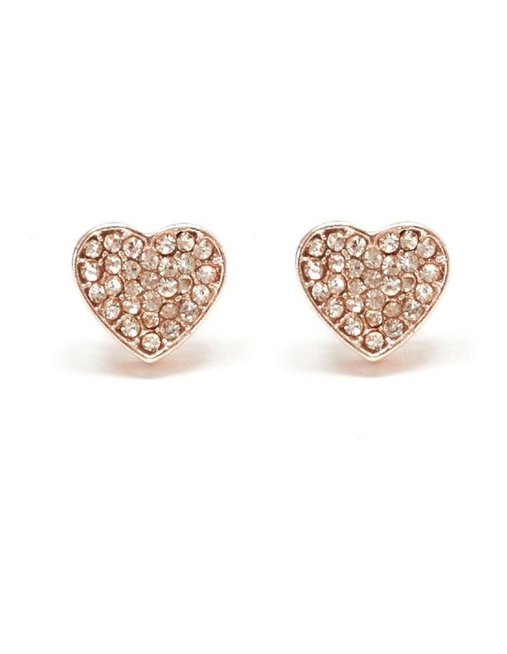 Diamante Heart Stud Earring image 1