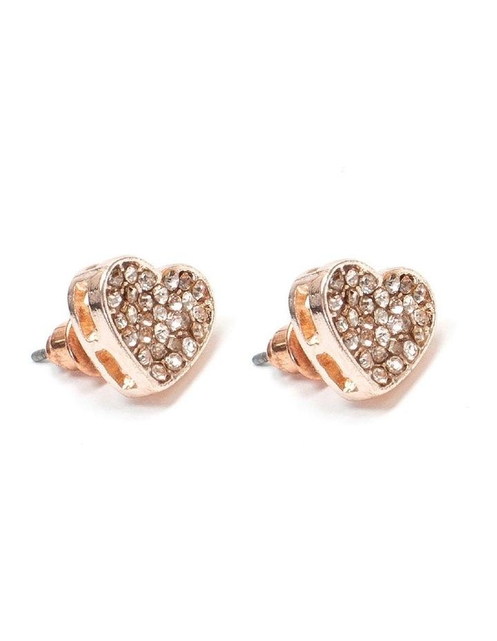 Diamante Heart Stud Earring image 2