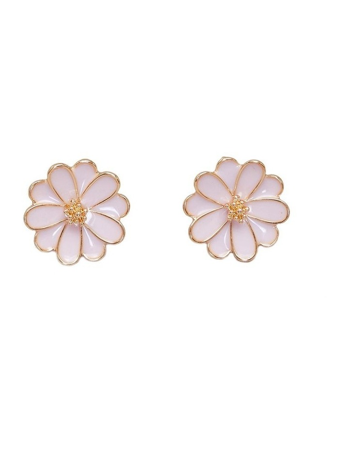 Enamel Flower Earrings image 1
