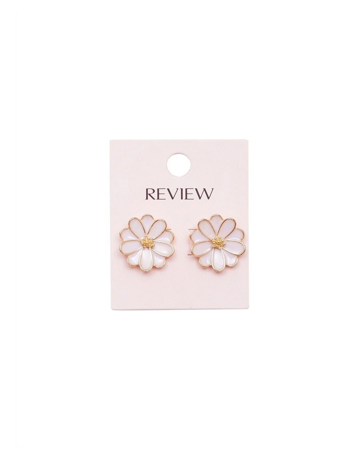 Enamel Flower Earrings image 2