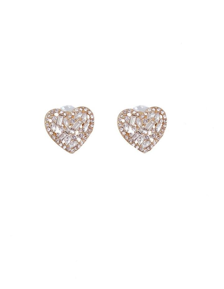 Diamond Heard Stud Earrings image 1
