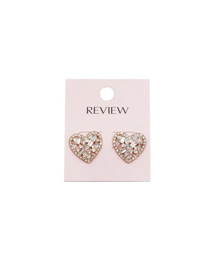 Diamond Heard Stud Earrings image 2