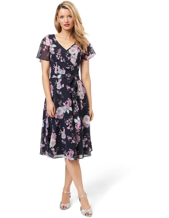 Violet Blossom Midi Dress image 1