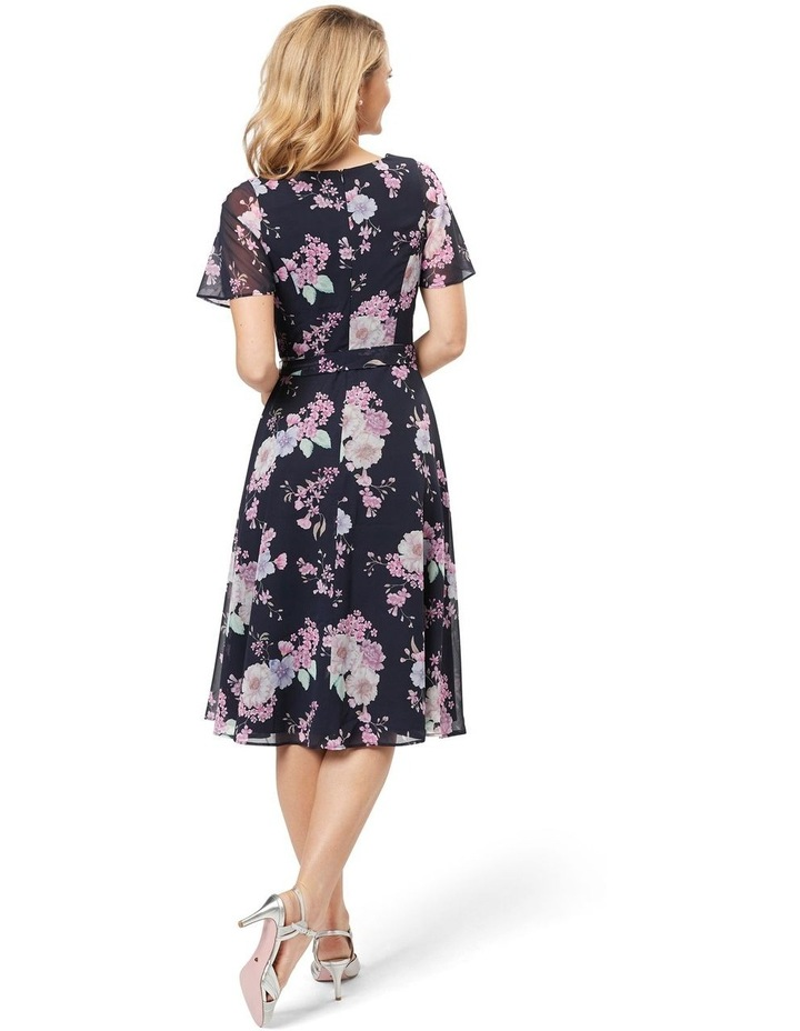 Violet Blossom Midi Dress image 2