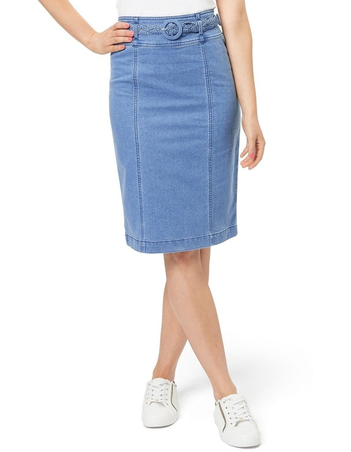 Braid Denim Skirt image 1