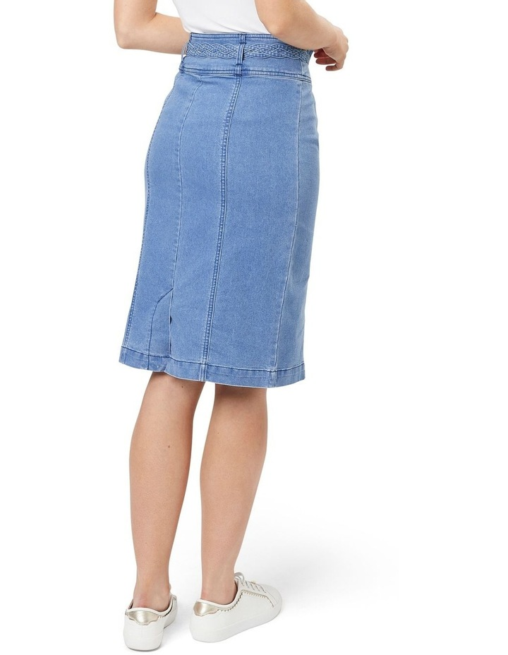 Braid Denim Skirt image 2