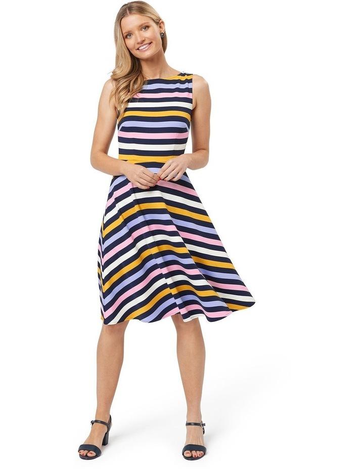 Erika Stripe Ponte Dress image 1