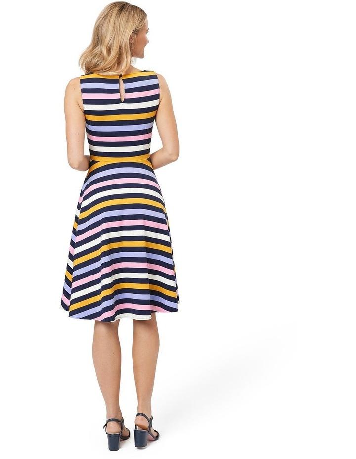 Erika Stripe Ponte Dress image 2