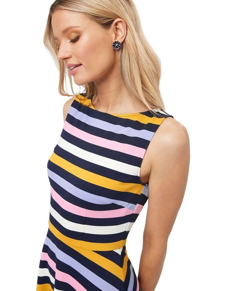 Erika Stripe Ponte Dress image 3