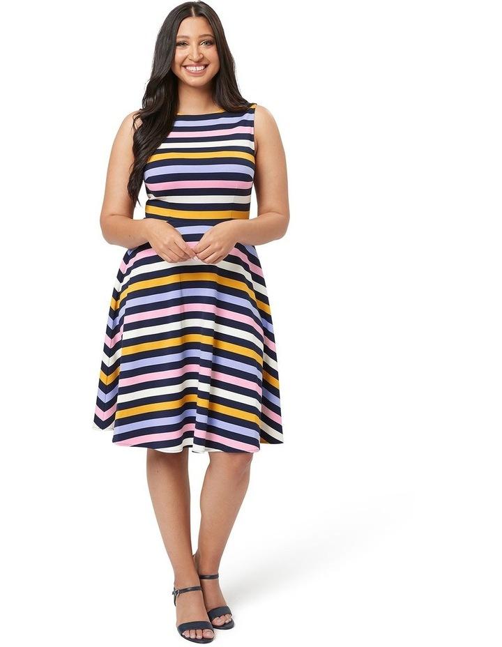 Erika Stripe Ponte Dress image 4