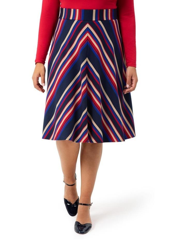 Equestrian Stripe Ponte Skirt image 1
