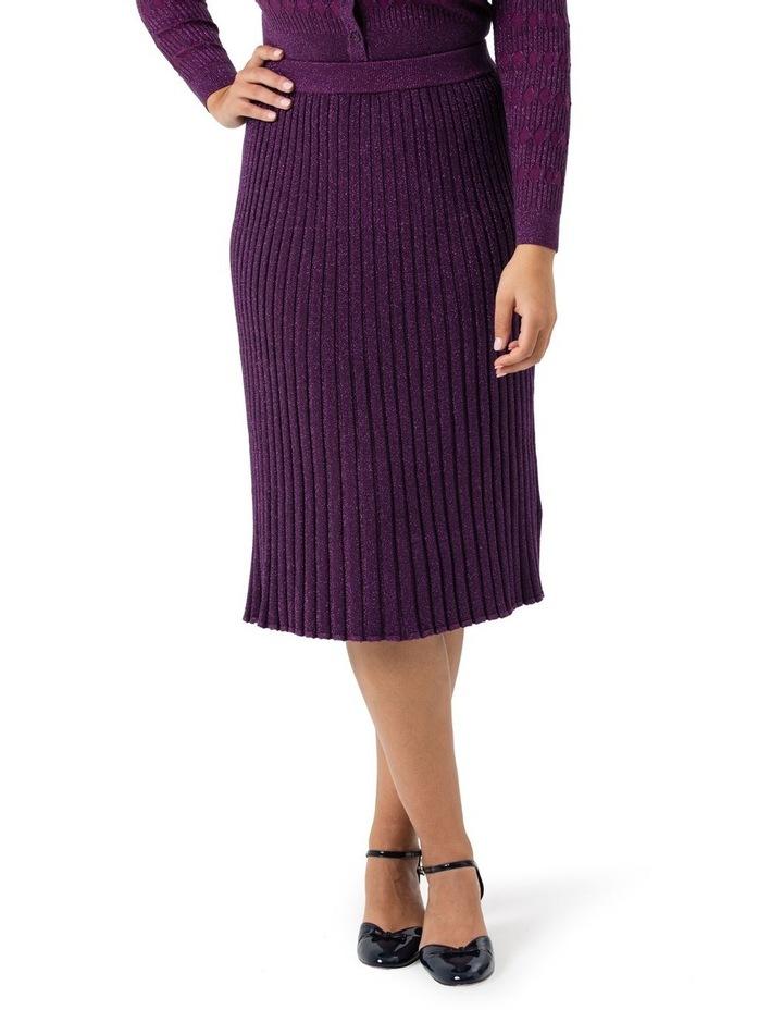 Midi Rib Shimmer Skirt image 1