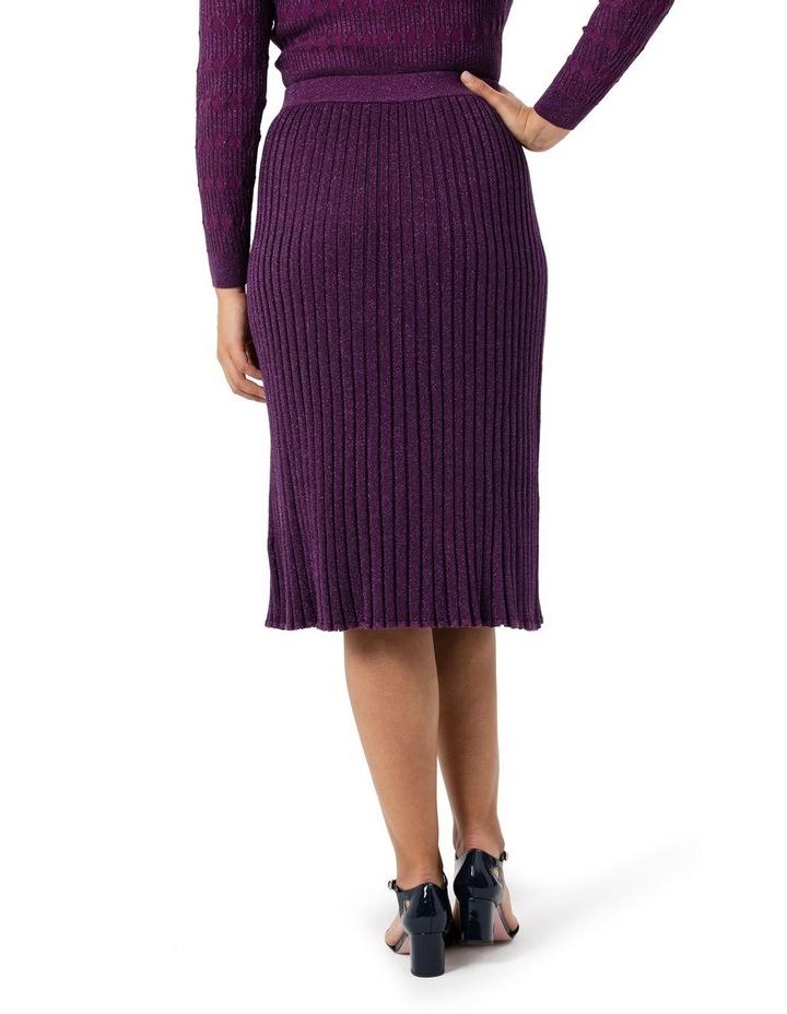 Midi Rib Shimmer Skirt image 2