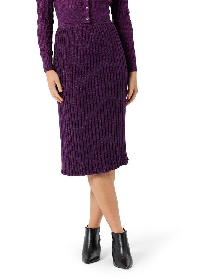 Midi Rib Shimmer Skirt image 3