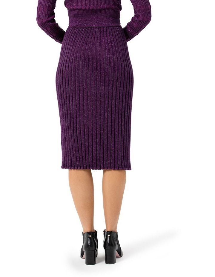 Midi Rib Shimmer Skirt image 4