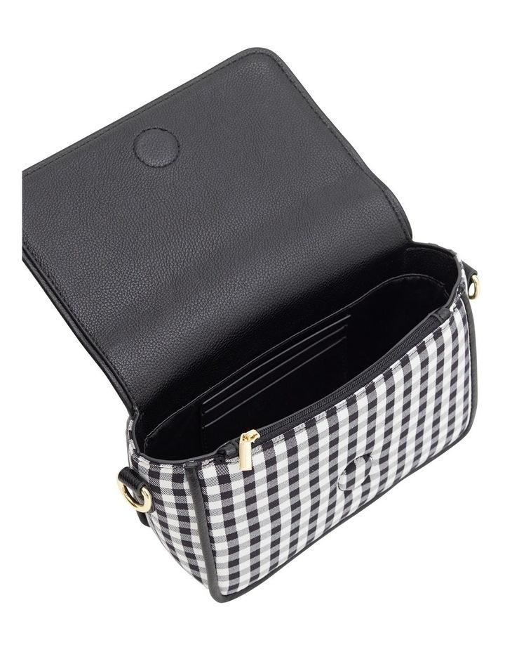 Gingham Black Crossbody Bag image 5
