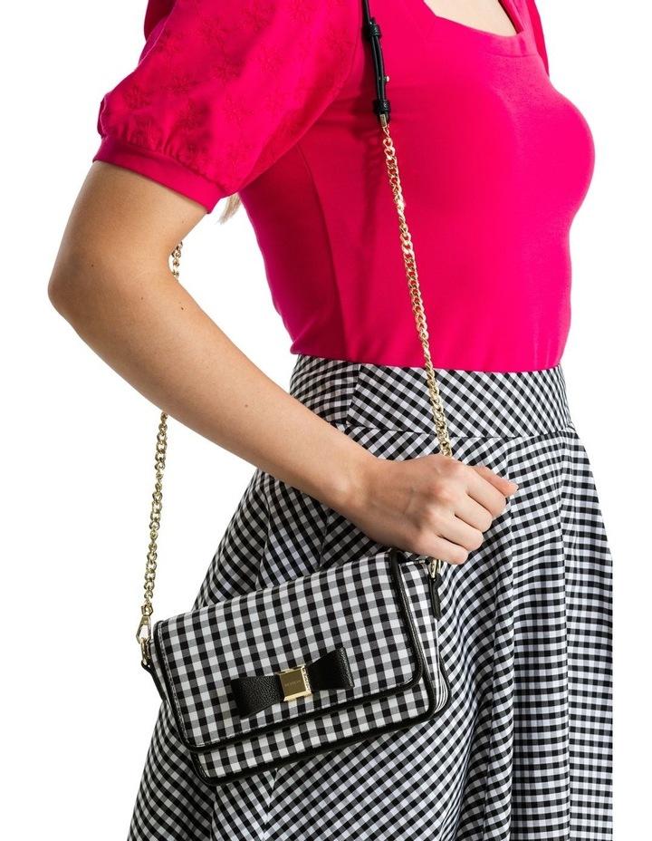 Gingham Black Crossbody Bag image 7