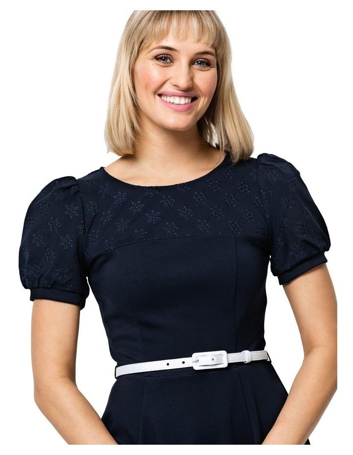 Poppy Broderie Ponte Dress image 3