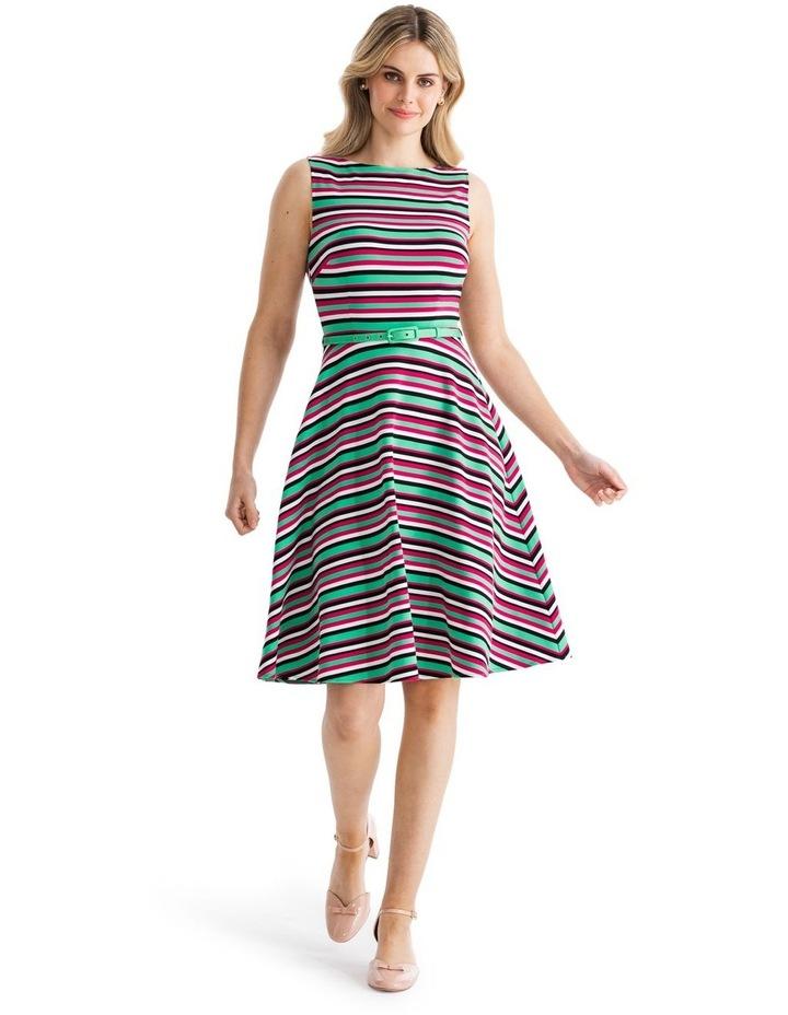 Zosia Stripe Ponte Dress image 1