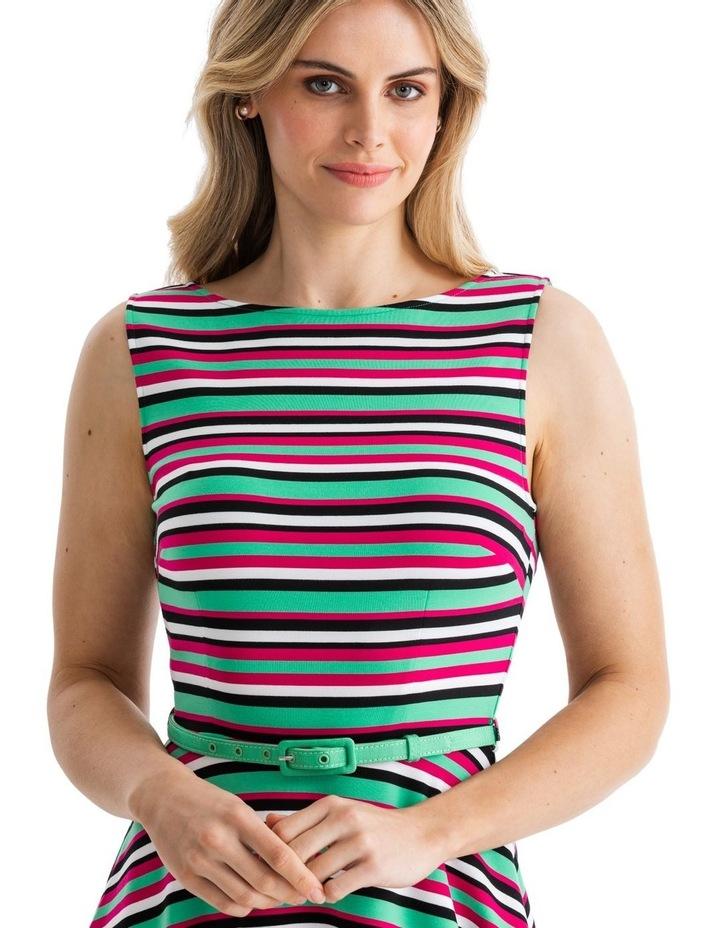Zosia Stripe Ponte Dress image 3