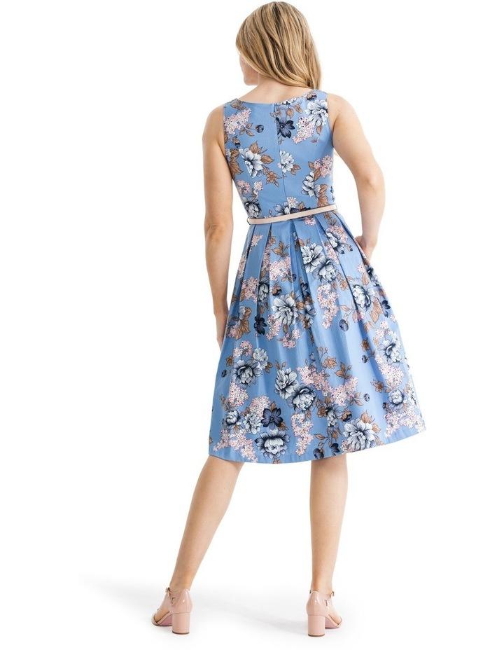True Blue Floral Dress image 2